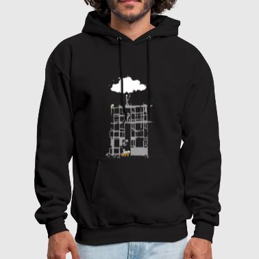 Clouds Building a Cloud - Men's Hoodie