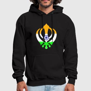 Indian Flag Khanda (Sikhism) - Men's Hoodie