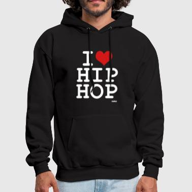 i love hip hop by wam - Men's Hoodie