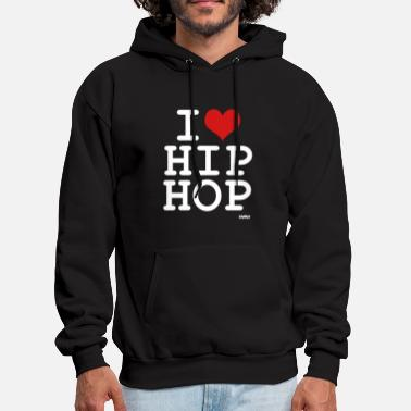 Hip Hop i love hip hop by wam - Men's Hoodie
