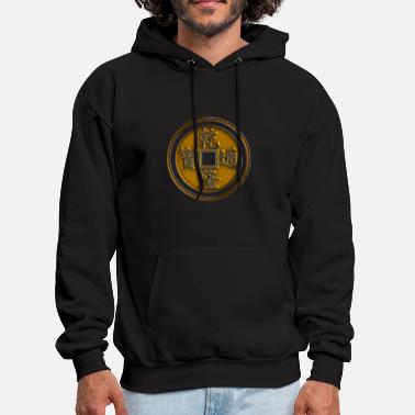 Feng Shui Lucky Chinese coin, Feng Shui, wealth, finance - Men's Hoodie