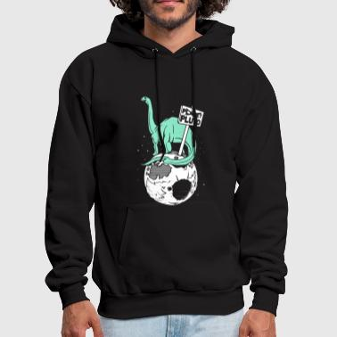 Brontosaurus On Pluto - Men's Hoodie