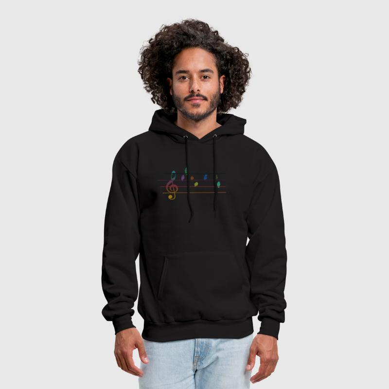 Colorful musical birds on power line - Men's Hoodie