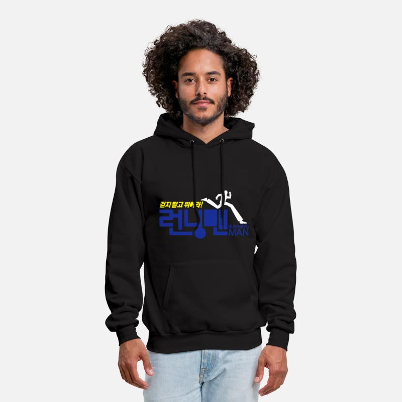Korean Hoodies & Sweatshirts - Running Man! - Men's Hoodie black