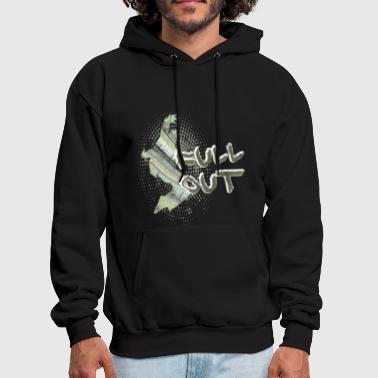 Male Hip Hop Dancer Full Out for dark - Men's Hoodie