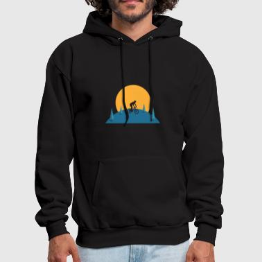 Mountain Bike Sunset - Men's Hoodie