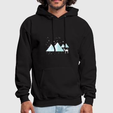 Winter Snow Deer - Men's Hoodie
