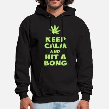 Bong keep calm and hit a bong - Men's Hoodie