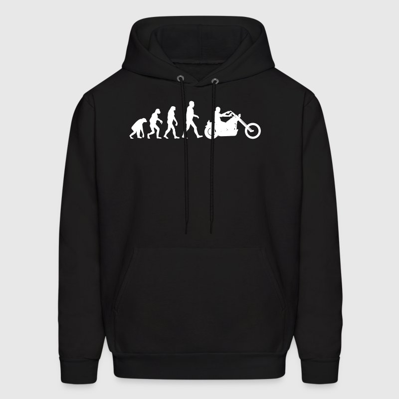 Biker Evolution Chopper - Men's Hoodie