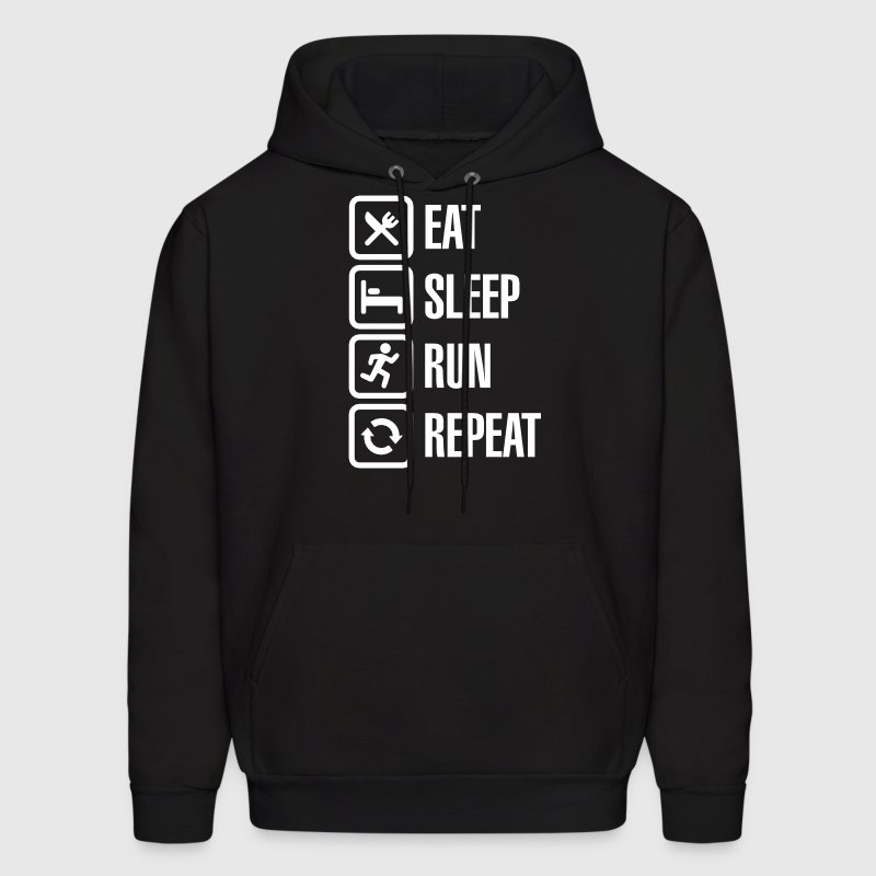Eat sleep run repeat - Men's Hoodie