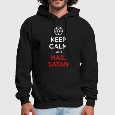 Keep Calm and Hail Satan - Men's Hoodie