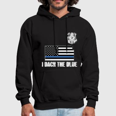 Kansas Police Appreciation Thin Blue Line I Back The Blue - Men's Hoodie