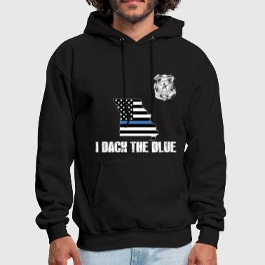 Law Enforcement Missouri Police Appreciation Thin Blue Line I Back The Blue - Men's Hoodie
