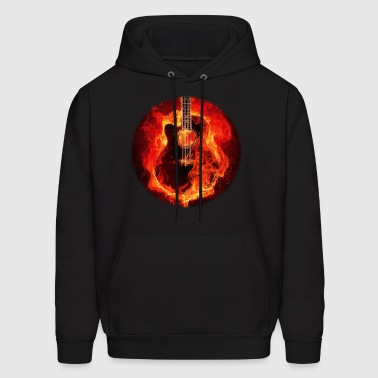 Guitar on Fire - Men's Hoodie
