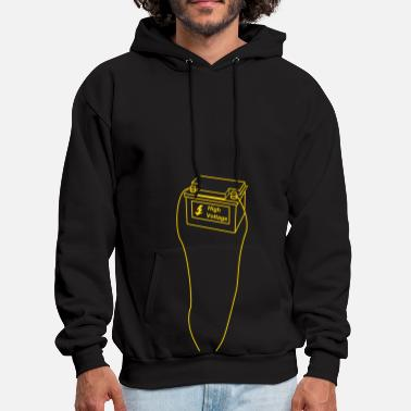 Voltage battery, high voltage, low current, high voltage, power, electricity, penis, cock, Member - Men's Hoodie