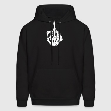 Middle Finger Skeleton Bone Skull Grafitti Art - Men's Hoodie