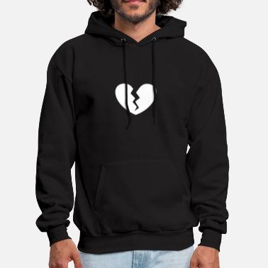 Broken Heart Heart Broken VECTOR - Men's Hoodie