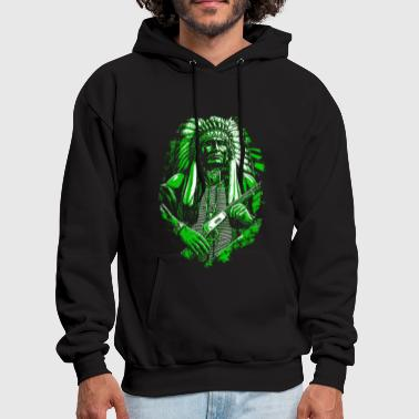 American Indian Indian American Native American Skull Gift - Men's Hoodie