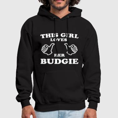 This Girl Loves Her Budgie - Men's Hoodie