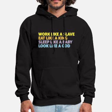 Slave Female Work like a slave 3 - Men's Hoodie
