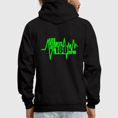 Life starts at 180 BPM - Men's Hoodie