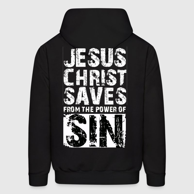 Jesus Christ Saves - Men's Hoodie