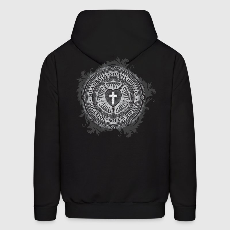 Luther Rose - Gothic Black - Christian - Men's Hoodie