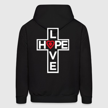 Love Hope Heart 2 - Men's Hoodie