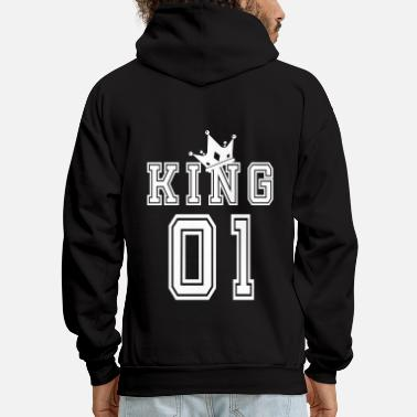 King Valentine's Day Matching Couples King Jersey - Men's Hoodie