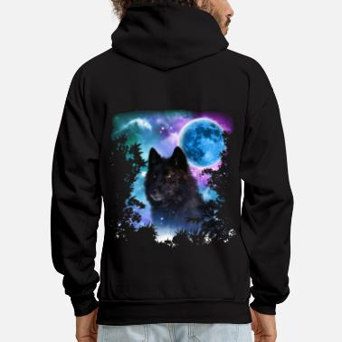 Black Forest Black Wolf MidNight Forest - Men's Hoodie