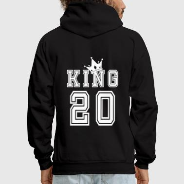 King And Queen Valentine's Day Matching Couples King Jersey - Men's Hoodie