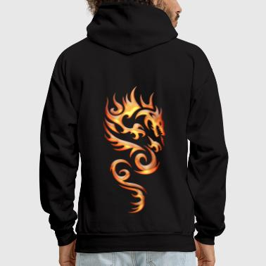 Tribal Fire Dragon - Men's Hoodie