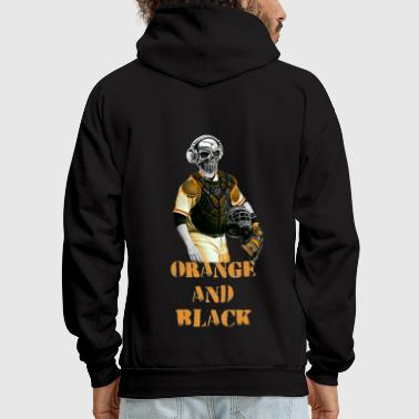 ORANGE AND BLACK - Men's Hoodie