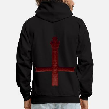 Satanic Demon Cross - Men's Hoodie