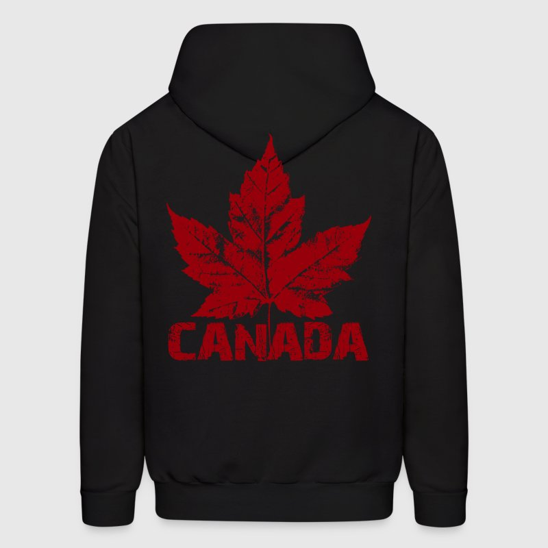 Cool Canada Souvenir Distressed Maple Leaf Art for - Men's Hoodie