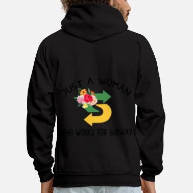 Subway just a woman who works for subway police - Men's Hoodie