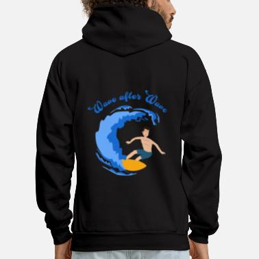 Surfer Wave Sport Beach Kitesurfing Summer gift - Men's Hoodie