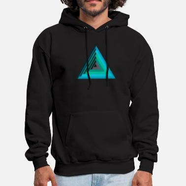 Optical Illusion Optical Triangle Illusion - Men's Hoodie