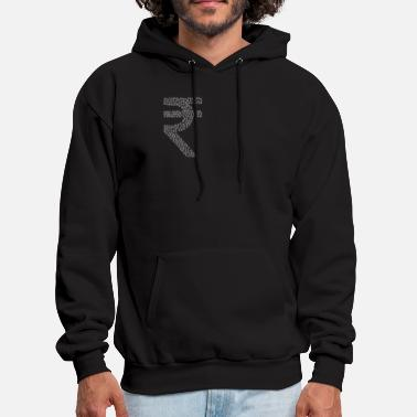Rupee Snow Wordcloud of a cur rupee form (white) - Men's Hoodie