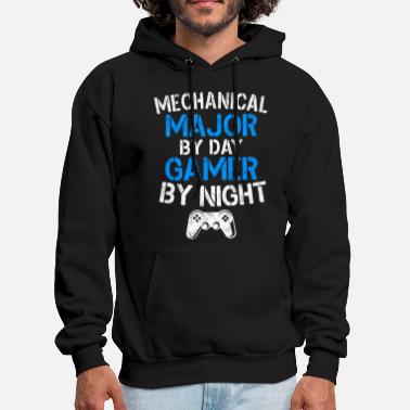 Mechanical Major By Day Gamer By Night Gaming Gift - Men's Hoodie