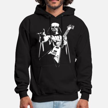Vader Darth Vader Rocks Guitar Star Wars Music Band Funn - Men's Hoodie