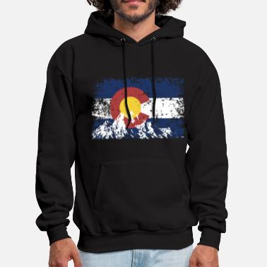 Colorado mountain country america cowboy university denver - Men's Hoodie