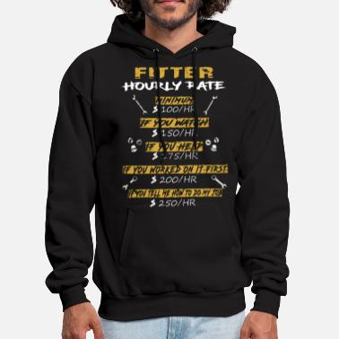 Minimum fitter hourly rate minimum if you watch if you hel - Men's Hoodie