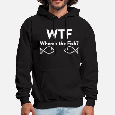 Crappie Fishing WTF Where s The Fish Funny Mens Soft Fishing Trip - Men's Hoodie