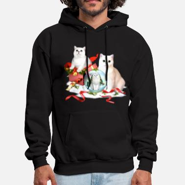 Bobcat animals christmas cute lovely festival gift presen - Men's Hoodie