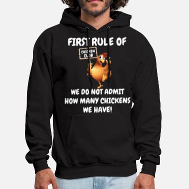 first rule of chicked club we do not admit how man - Men's Hoodie