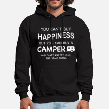 you can not buy happiness but you can buy a camper - Men's Hoodie