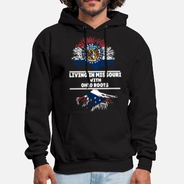 living in missouri with ohio roots wolf tree ameri - Men's Hoodie