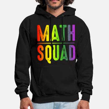 Math squad first day go to school funny happy math - Men's Hoodie