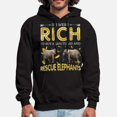 if i were rich i would buy a sanctuary and resuce - Men's Hoodie